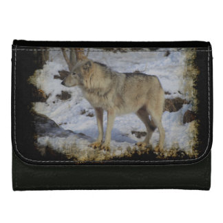 Wolf & Snow Wolf-Lover Wild Animal Alpha Male Wallets