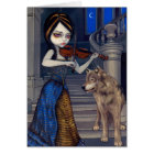 """Wolf Song"" Greeting Card"