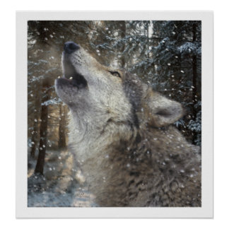 Wolf Song - Pastel Poster