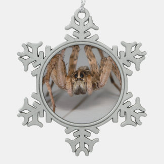 Wolf Spider Pewter Snowflake Decoration