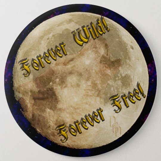 wolf spirit 6 cm round badge