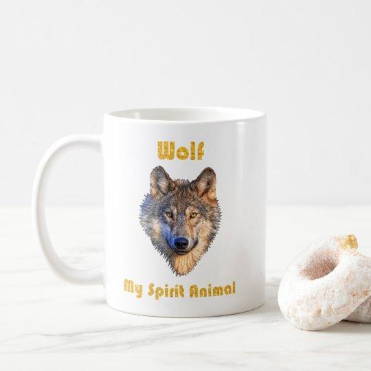 Wolf Spirit Animal Mug/Wolf Mugs/Wolf Gift/ Coffee Mug