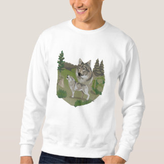 Wolf Spirit Embroidered Sweatshirt
