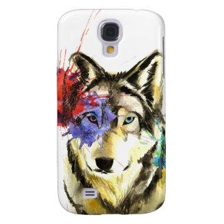 Wolf Splatter Galaxy S4 Case