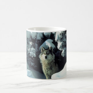 Wolf Standing in Snow Coffee Mug