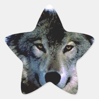 Wolf Star Stickers
