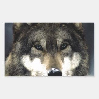 Wolf Rectangle Sticker