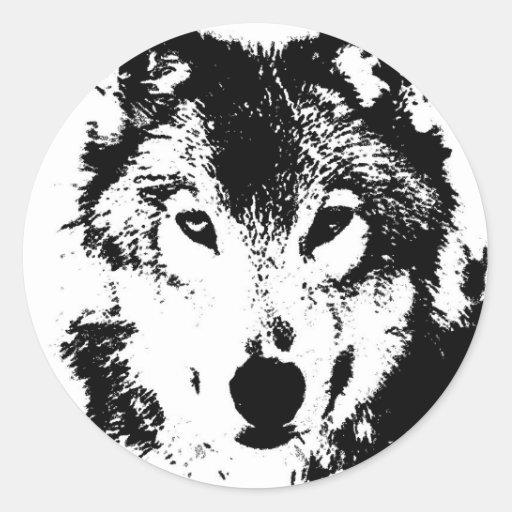 Wolf Round Stickers