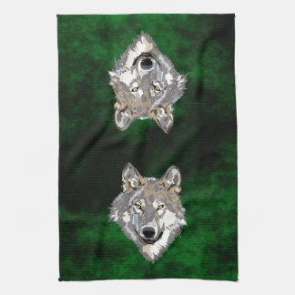 Wolf Tea Towel