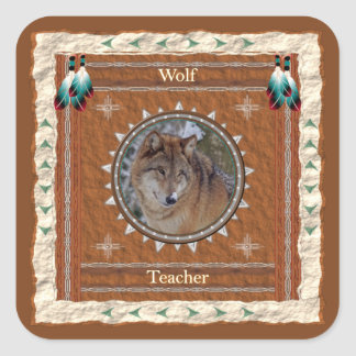 Wolf  -Teacher- Stickers - 20 per sheet