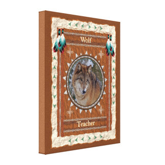 Wolf  -Teacher- Wrapped Canvas