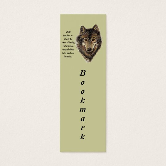 Wolf Totem Animal Guide Watercolor Nature Art Mini Business Card