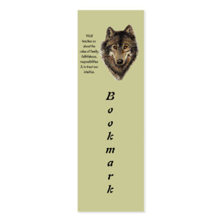 Wolf Totem Animal Guide Watercolor Nature Art Pack Of Skinny Business Cards