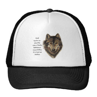 Wolf totem Inspirational Spirit Guide Animal for W Cap