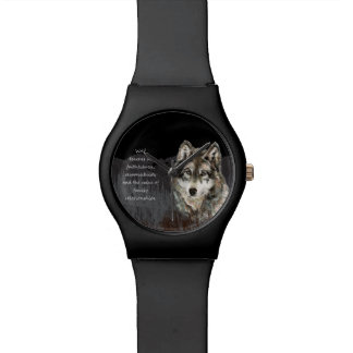 Wolf Totem Spirit Animal Guide watercolor art Watch