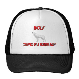 Wolf trapped in a human body cap