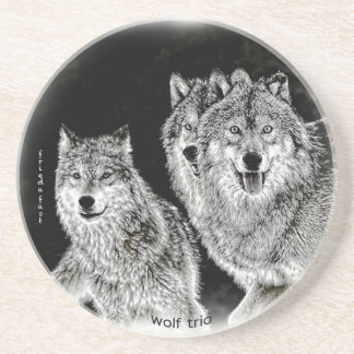 Wolf Trio Coaster