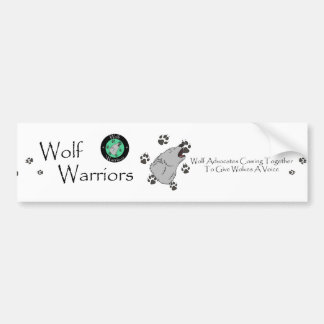 Wolf Warriors Bumper Sticker