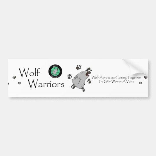 Wolf Warriors Bumper Sticker