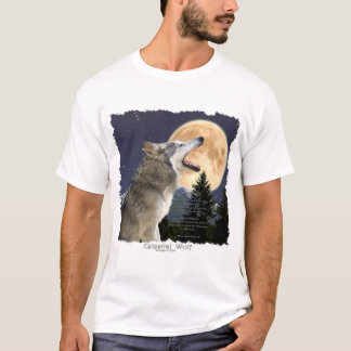 WOLF & Wilderness with Wildlife Poem T-Shirt