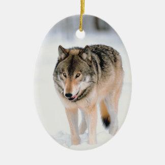 Wolf Wildlife Christmas Holiday Tree Decorations