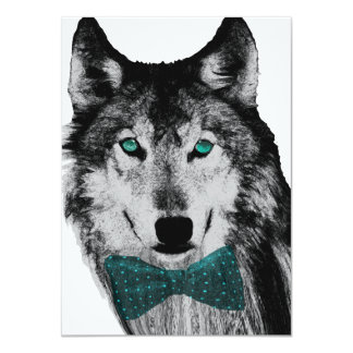 Wolf with Blue Eyes Card