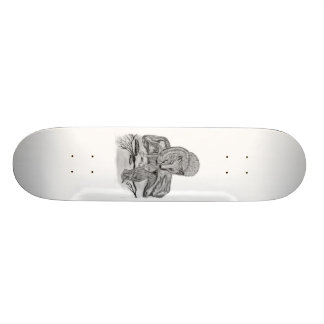 Wolf with ravens 21.6 cm old school skateboard deck