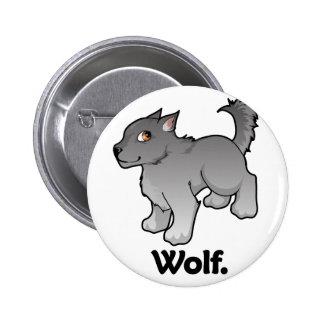 Wolf. Wolf 6 Cm Round Badge
