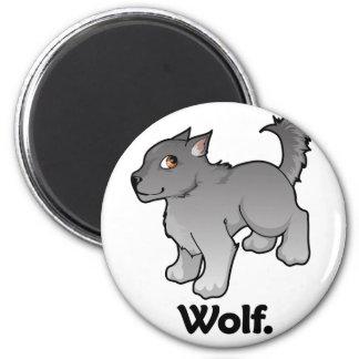 Wolf. Wolf 6 Cm Round Magnet
