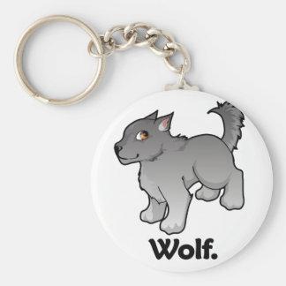 Wolf. Wolf Basic Round Button Key Ring