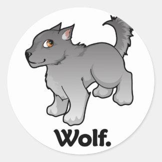 Wolf. Wolf Classic Round Sticker