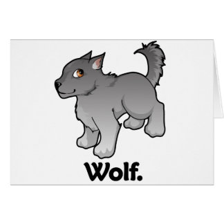 Wolf. Wolf Greeting Card