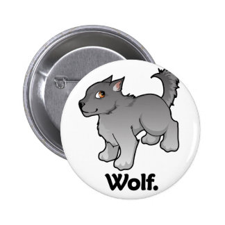 Wolf. Wolf Pinback Buttons