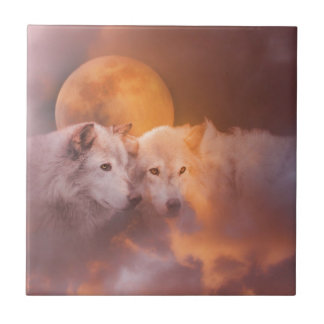 Wolf Wolves Artwork Tile