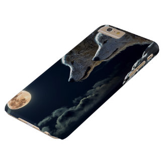 Wolf Wolves Howling at the Full Moon at Night Barely There iPhone 6 Plus Case