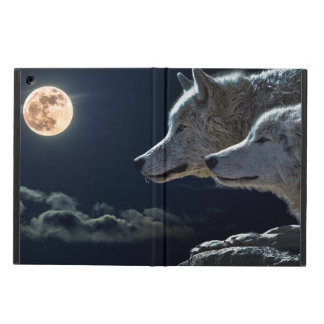 Wolf Wolves Howling at the Full Moon at Night iPad Air Covers