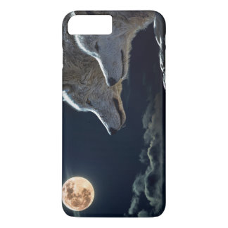Wolf Wolves Howling at the Full Moon at Night iPhone 7 Plus Case