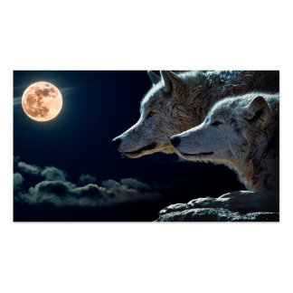Wolf Wolves Howling at the Full Moon Pack Of Standard Business Cards