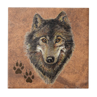 Wolf, Wolves,  Nature, Wildlife, Watercolor Animal Tile