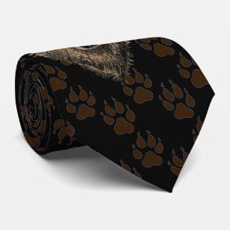 Wolf, Wolves Wild Animal Tracks Footprints Tie