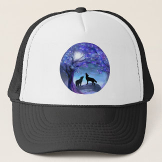 Wolf Wolves Wildlife Animals Blue Hat