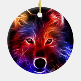 Wolf Wonder Christmas Ornament