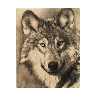 Wolf Wood Wall Decor