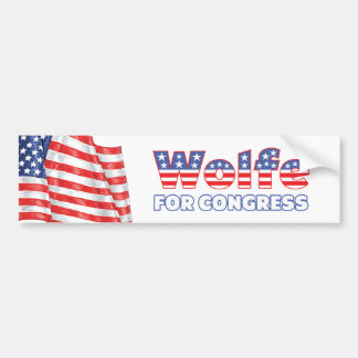 Wolfe for Congress Patriotic American Flag Bumper Sticker