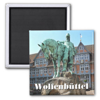 Wolfenbüttel, rider monument (Wolfenbuettel) Square Magnet