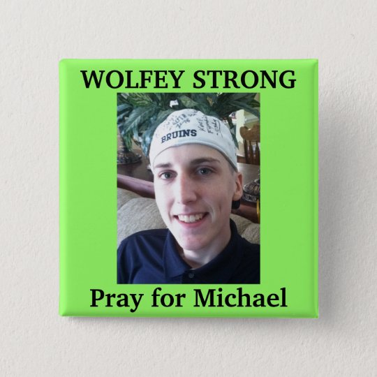 Wolfey Strong 15 Cm Square Badge