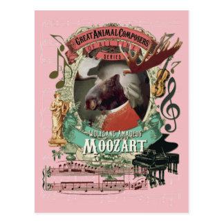 Wolfgang Amadeus Moozart Moose Animal Composer Postcard