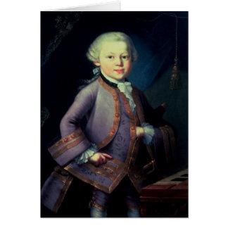 Wolfgang Amadeus Mozart , 1763 Greeting Card