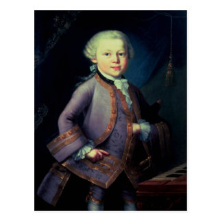 Wolfgang Amadeus Mozart , 1763 Postcard