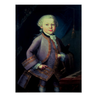 Wolfgang Amadeus Mozart , 1763 Poster